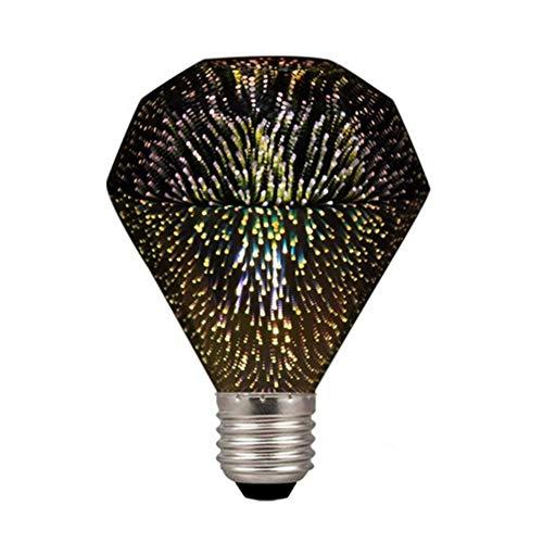 Century Light -Diamond G95 4W LED 3D Fireworks Light Bulb,E26 Base Edison Bulb Light for Holiday Christmas Decoration Bar Glass LED Lamp