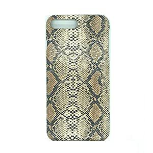 Apple iPhone 8 Plus 5.5 inch Case, Back Cover Hard Plastic Protector Case Stylish Design Brown Snake Skin Pattern