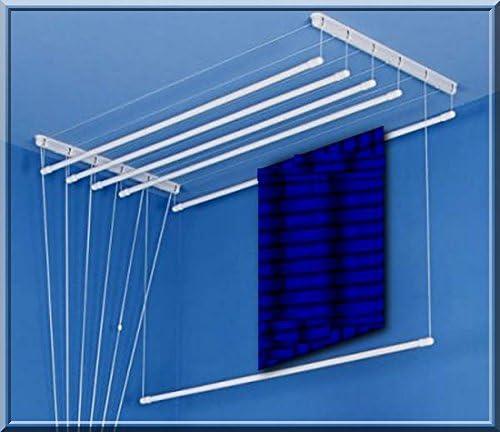 Polea tendedero de techo secador de 120 varillas de 6 cmWhite para ...
