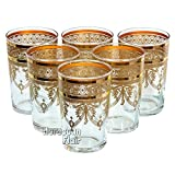 Moroccan Tea Drinking Glasses Set-of-6 Gold Deal