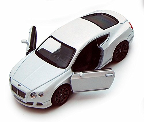 Kinsmart 2012 Bentley Continental GT Speed, White 5369D - 1/38 scale Diecast Model Toy Car (Brand New, but NO BOX)