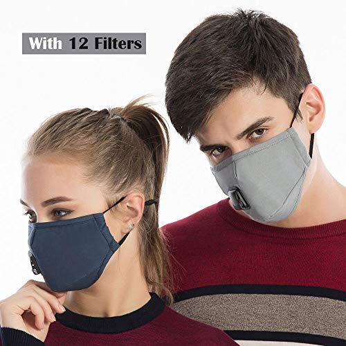 De Válvula Máscara Algodón Filtros Máscaras dos 12 Con Lavable