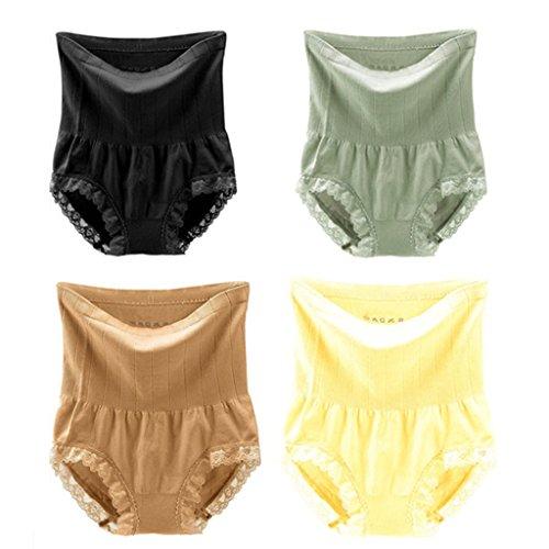 MUNAFIE Bragas Postparto Recuperación Cintura Alta Color Sólido 4 Colores para Mujer 4 Colors ALL