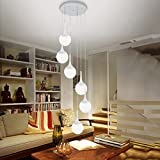 Edge To chandelier Ceiling Lamp Modern Iron 6 Ceiling Lamp Creative Double Store Clothing Store Villa Living Room Lamp Hotel Spherical Glass Lamp