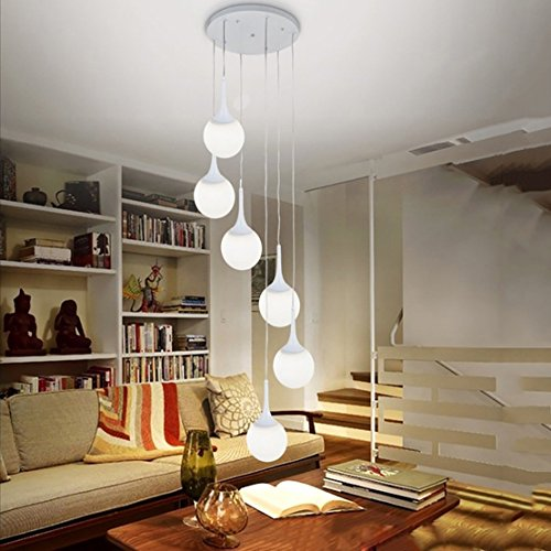 Edge To chandelier Ceiling Lamp Modern Iron 6 Ceiling Lamp Creative Double Store Clothing Store Villa Living Room Lamp Hotel Spherical Glass Lamp by Edge To