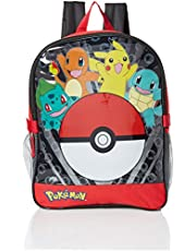 "Pokemon Pocket 15"" Backpack with Lunch Kit, Red (red) - PM-BP-222-R1-PROD"