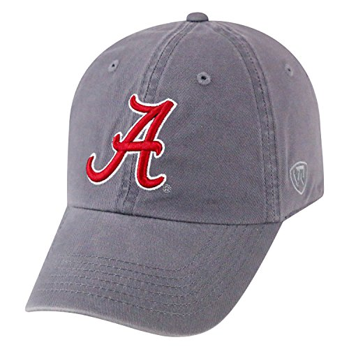 Top of the World NCAA-Cotton Crew-City-Adjustable Strapback-Hat Cap-Alabama Crimson Tide-Grey
