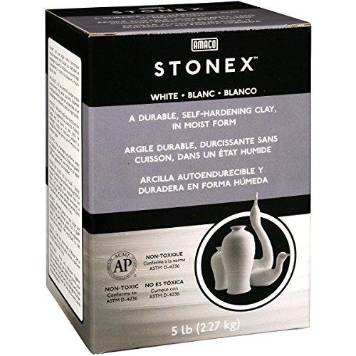 - AMACO Darice STONEX Clay 5 LB AIR Dry White