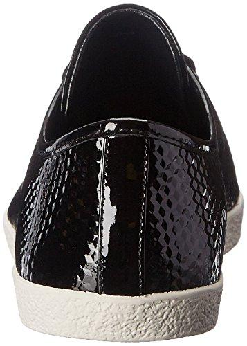 Delman Womens D-magie-p Fashion Sneaker Noir Geo Imprimer Brevet / Cuir Verni