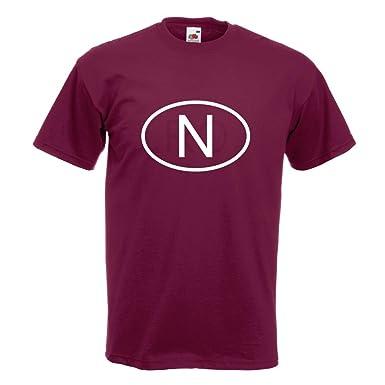 KIWISTAR - Norwegen N T-Shirt in 15 verschiedenen Farben - Herren Funshirt  bedruckt Design