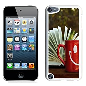 NEW Unique Custom Designed iPod Touch 5 Phone Case With Open Book Red Smile Mug_White Phone Case