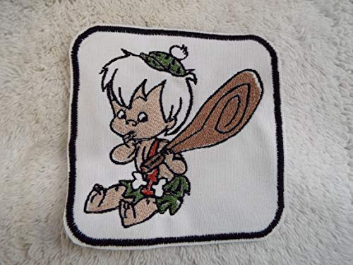 Flintstones BAM BAM Embroidered Iron-on Patch