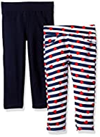 Limited Too Girls' 2 Pack French Terry Legging, KW02-Multi, 10/12