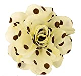 Men's Lapel Flower . Ivory and Brown