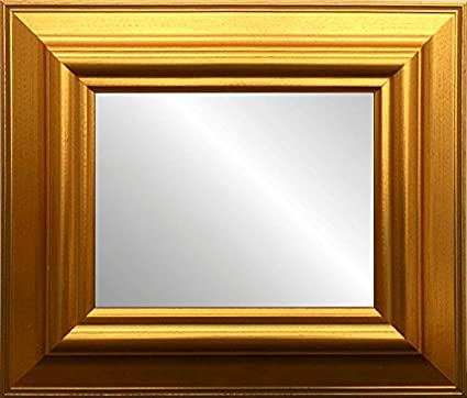 Amazon.com: Classic Large Gold Framed Beveled Glass Wall Mirror ...
