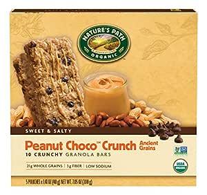Nature's Path Organic Crunchy Granola Bars, Peanut Choco Crunch, 7.05 Ounce Box (Pack of 6)