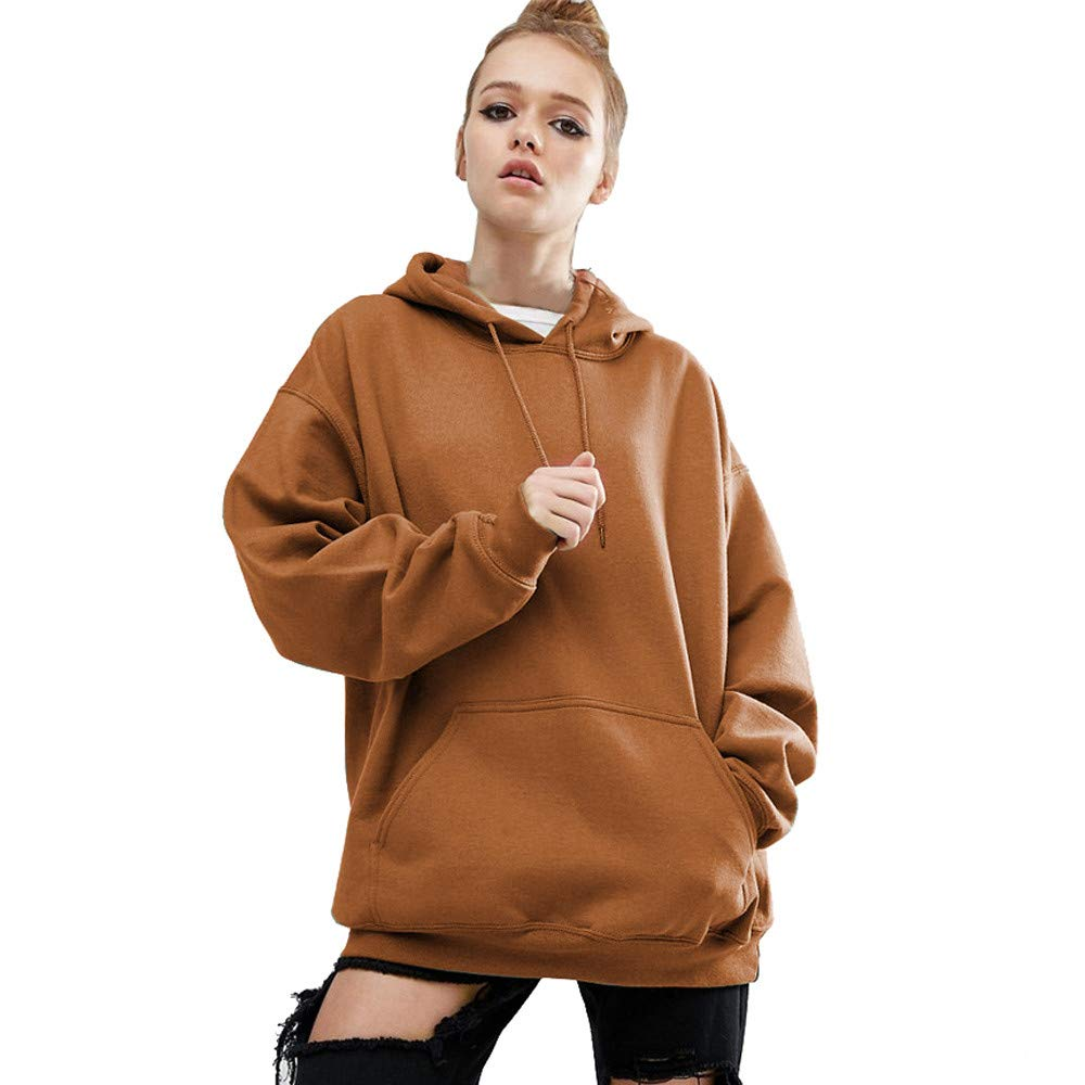 Amazon.com : Clearance!HOSOME Women Top Womens Autumn Fashion Women Long Sleeve Hoodie Sweatshirt Sweater Casual Hooded Coat : Grocery & Gourmet Food