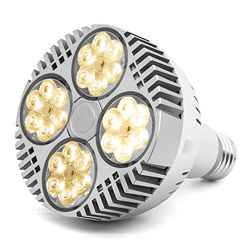 35W LED Grow Light Bulb, Grow Lights for Indoor Plants, CANAGROW E26 Full Spectrum Plant Grow Light Bulb, Growing Light Lamps for Hydroponic Greenhouse Succulent Flower Veg and Bloom