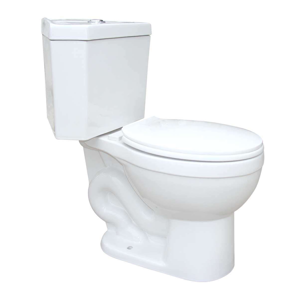 Corner White Round Dual Flush Bathroom Toilet Grade A Porcelain Space Saving Design Includes Slow Close Toilet Seat | Renovator's Supply by Renovators Supply Manufacturing