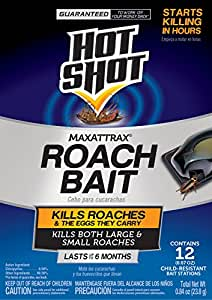 Hot Shot MaxAttrax Roach Bait 12 Count 2030W