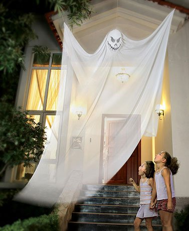 Prop Giant (White Giant Outside Scary Halloween Prop or Inside Hanging 7 Feet Angry)