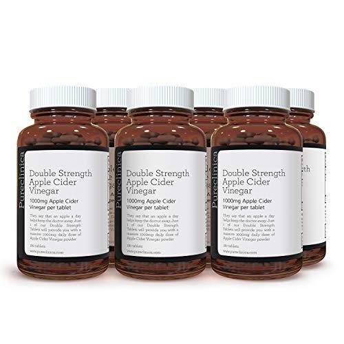 Double Strength Apple Cider Vinegar 1000mg x 1080 Tablets (6 Bottles of 180 Tablets - 3 Years Supply) SKU: AV3x6