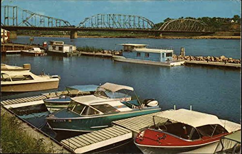 Combination Bridge South Sioux City, Nebraska Original Vintage Postcard