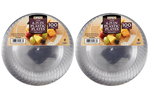 Daily Chef Clear Plastic Plates