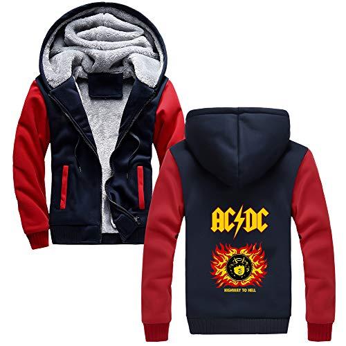 Red01 Capuche Imprimées Thermique À Rembourrée Hommes Acdc Confortable Blue Épaissie Hiver Avec Polaire Automne Veste FwxZ6Aq