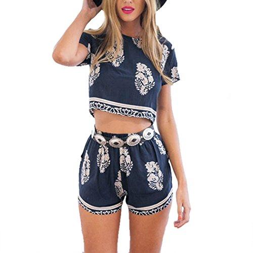 Queenfashion Vintage Pattern Bohemian Shorts