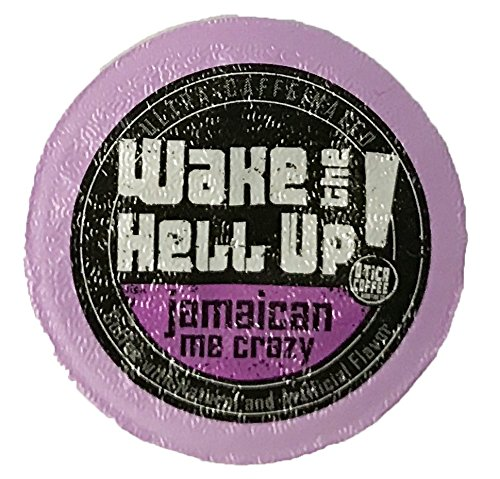 Price comparison product image Wake The Hell Up Coffee Jamaican Me Crazy Flavored Single Serve Capsules For Keurig K-Cup Brewers