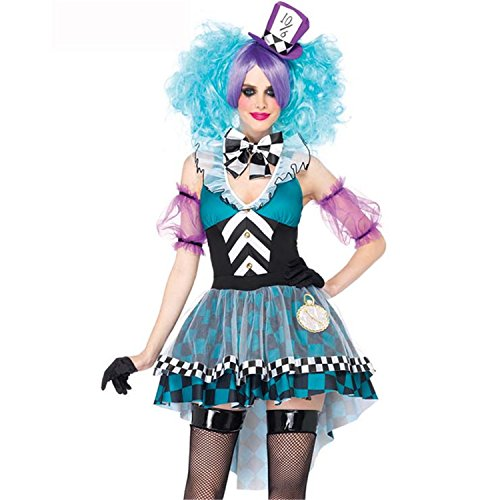 Manic Mad Hatter Costume - Medium - Dress Size (Queen Of Hearts And Mad Hatter Costume)