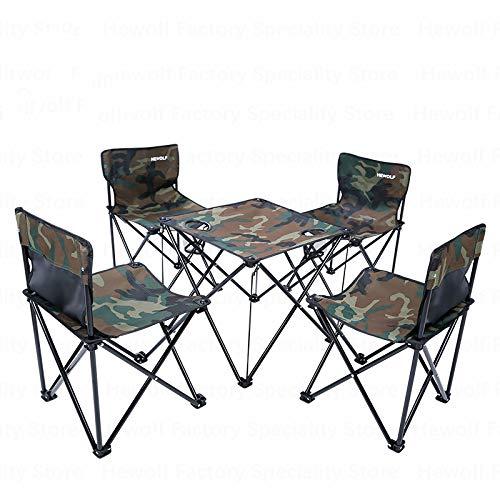 Ybsm Camping Exterior Folding Mesas Portátil Sillas 4 Asiento 1 ...