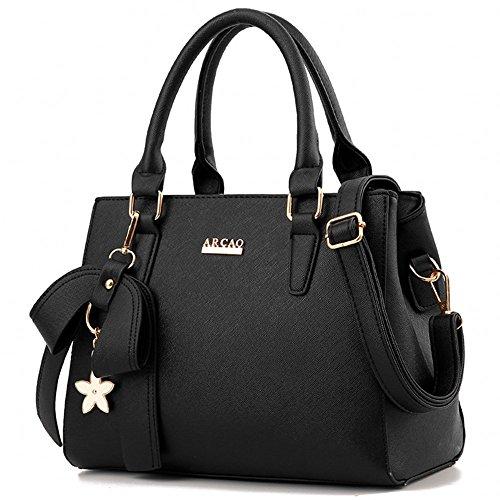 Leather Blue Handbags PU Black Bags Fashion Sky Women's Stylish Shoulder aWtOR1gxqw