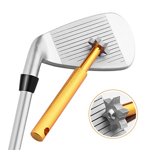Golf Club Groove Sharpener Tool with 6 Cutters