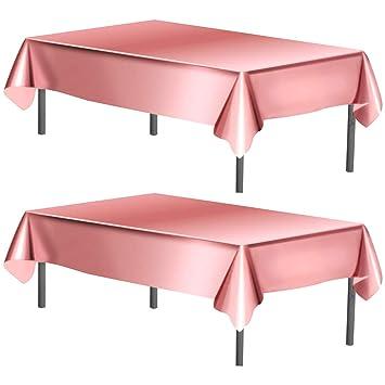 WEONE Juego de 2 Oro Rosa Mantel de Papel de Aluminio, 40 x ...