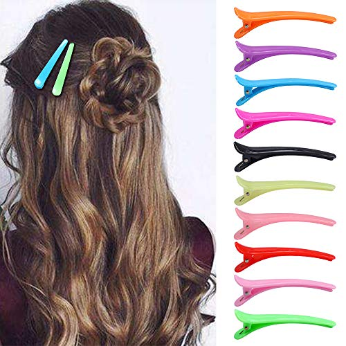 fani 30 Pcs Hair Clips Duck Teeth Bows Multi-Color Plastic Barrettes Professional Non-Slip Design Crocodile Hair Clips for Women,Girls ()