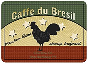 Premium Comfort Five Star Rooster Coffee Mat, 22 by 31-Inch, Multicolor