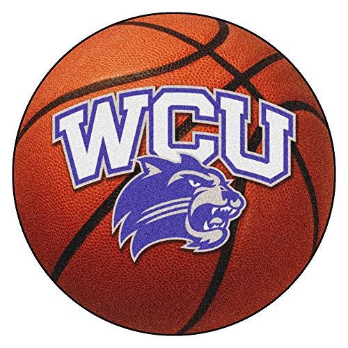 FANMATS NCAA Western Carolina University Catamounts Nylon Face Basketball Rug