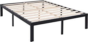TATAGO 3500lbs Upgraded Heavy Duty Wooden Slats Platform Bed Frame, 14 Inch Tall Mattress Foundation, Extra-Strong Support, No Noise & No Box Spring Needed, Full