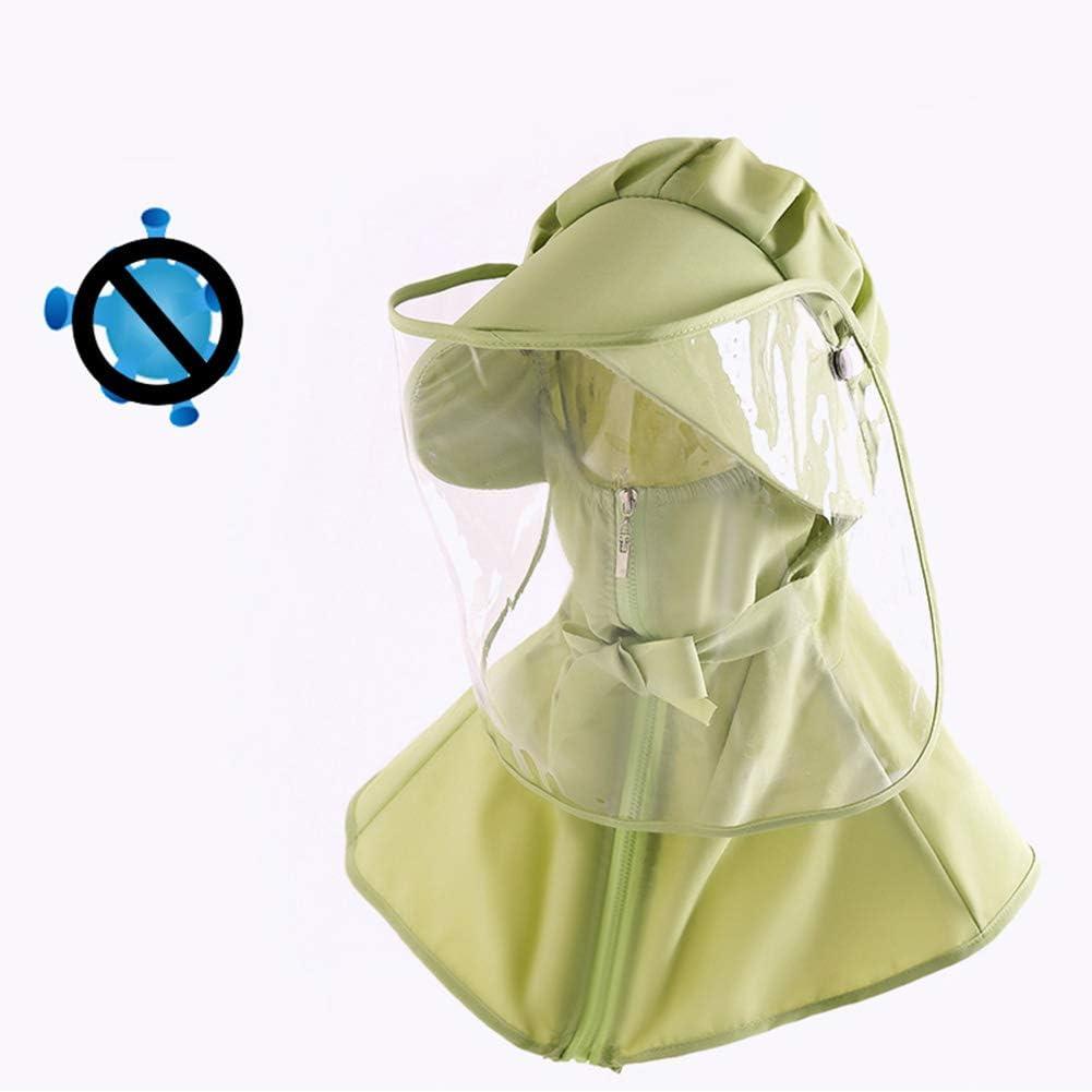ELEYHO Protectora Sombrero De Sol Montar Caps Caps Sombrero A Prueba De Viento De Polvo para Sacar A Pasear Perros De Compras, Montar A Caballo, Trabajo,E