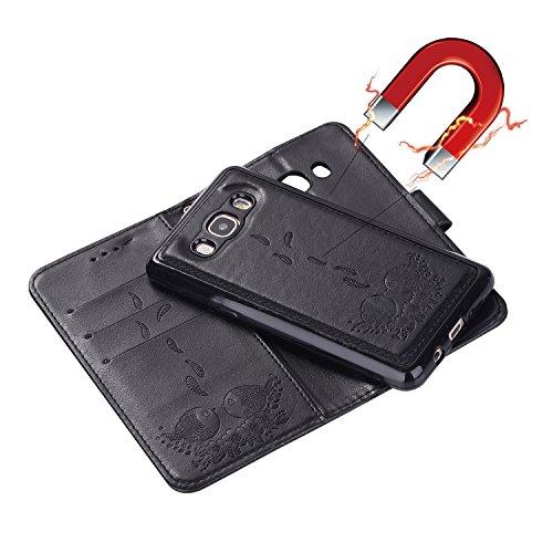protection black relief support de Wallet 2016 exquis avec J5 J510 Samsung fente motifs magnétique pour carte cas de avec PU en Hozor SM étui Galaxy cuir fermeture Flip téléphone wqBf0Pp