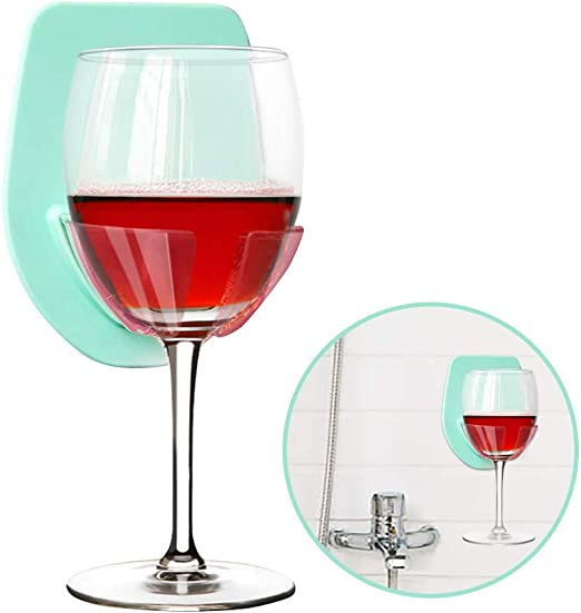 Gotega Wine Glass Holder Shower /& Bath Suction Cup Wine Gifts Relaxation Grey