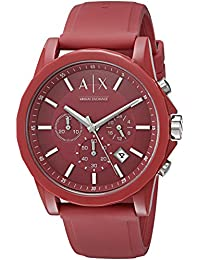 Armani Exchange Men's AX1328 Red Silicone Watch