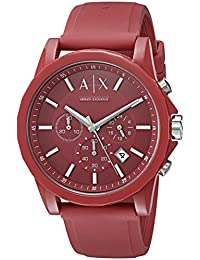 Armani Exchange AX1328 Watch, Men, Red Silicone