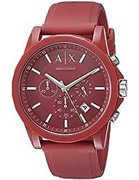 Armani Exchange Unisex AX1328 Outerbanks Analog Display Analog Quartz Red Watch