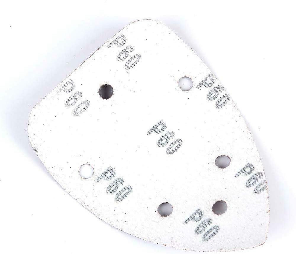20Pcs Triangles de Pon/çage Papier Abrasif 140x140x98 mm Delta Papier de Verre Triangle 100 grain