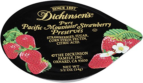 Dickinson's Strawberry Preserves, 200 Count (Strawberry Jam Individual)