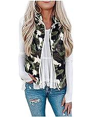 Briskorry Dames pluche warm bontvest camouflage kort bontvest mouwloze bontmantel winterjas kunstbont vest mantel vintage mantel outwear bontjas winterparka
