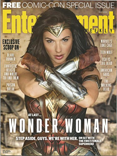 Entertainment Weekly Magazine Comic Con 2016 Special Issue with Wonder Woman Gal Gadot